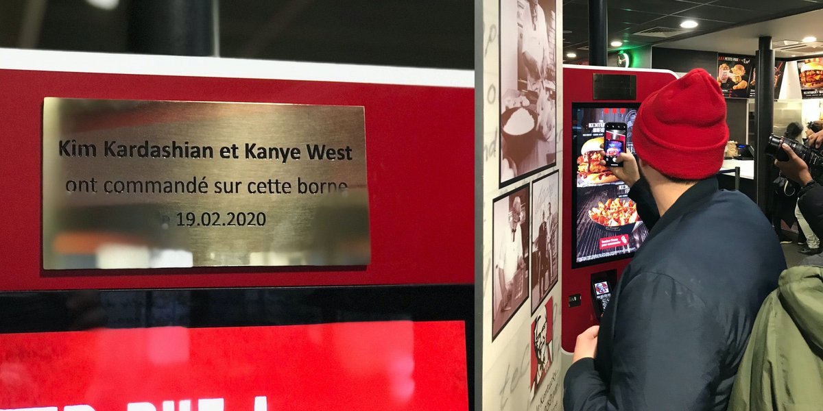 Paris KFC Commemorates Visit by Kanye West and Kim Kardashian West with a Plaque